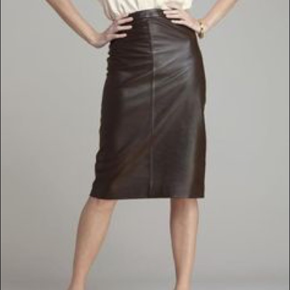 4e8015702b Pure Collection Skirts | Genuine Leather Pencil Skirt | Poshmark